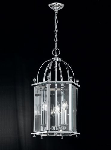 Franklite LA7008/3 Chrome Pendant Light